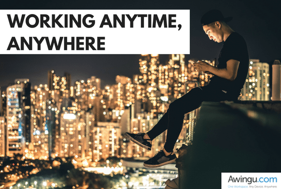 work anywhere with awingu