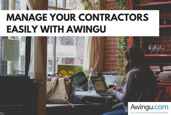 hiring a contractor with awingu