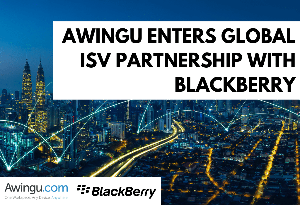 Awingu enters global ISV partnership with BlackBerry