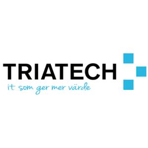 Triatech logo med devis - Vit