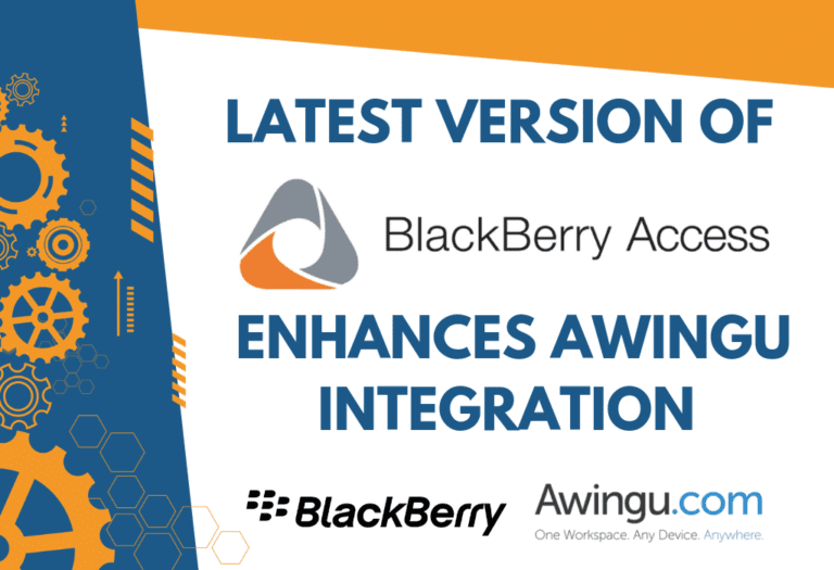 BlackBerry Access enhances Awingu integration